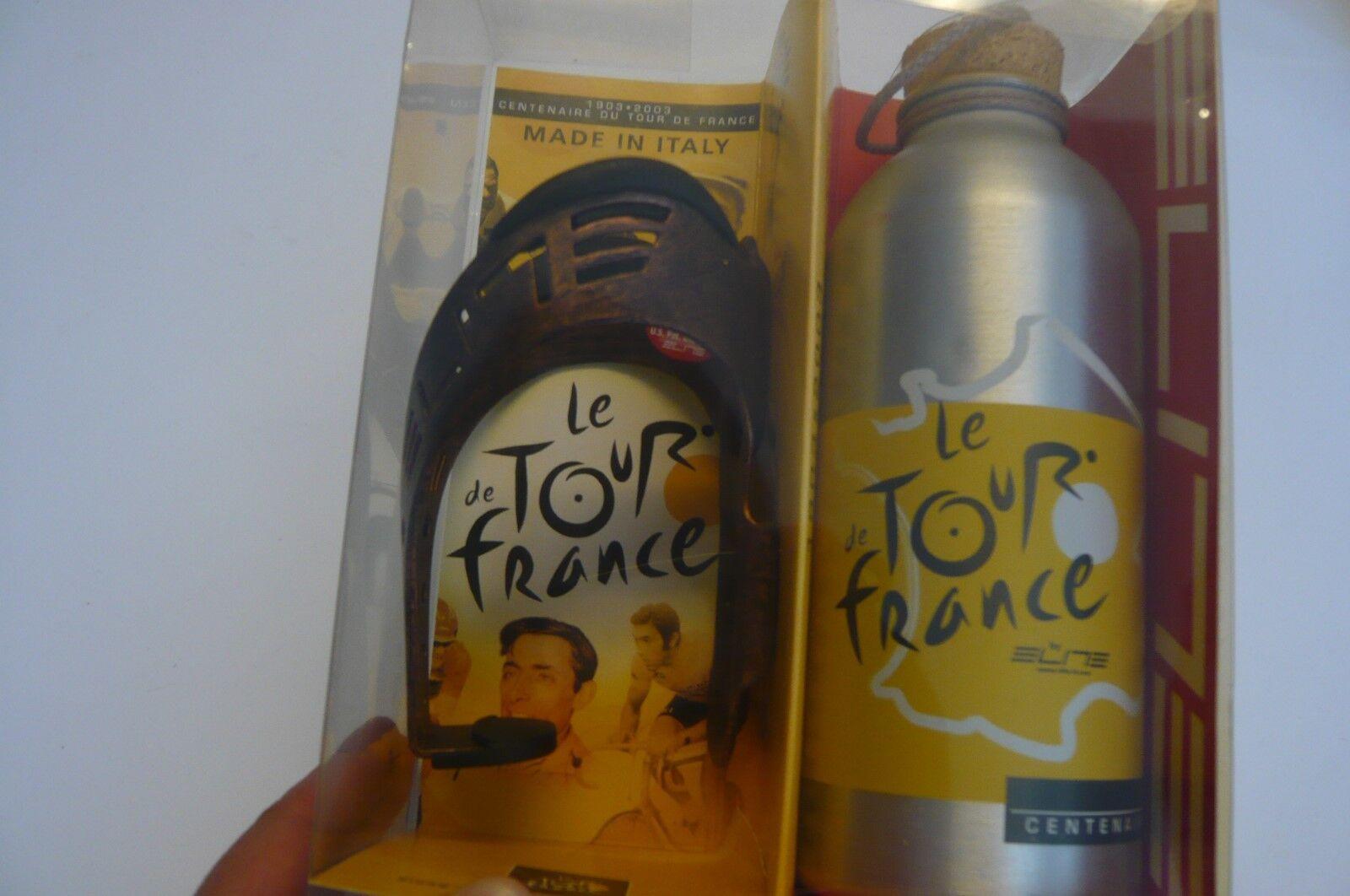 Elite Tour de France 1903-2003 100 th aniversario Bicicleta Botella de agua jaula & Nuevo En Caja