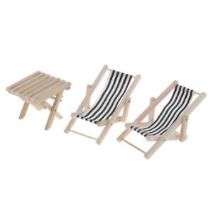 Beach Sunbath Chairs Table