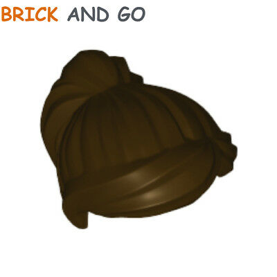 2 X LEGO ® cheveux perruque pour minifigur marron foncé que article neuf