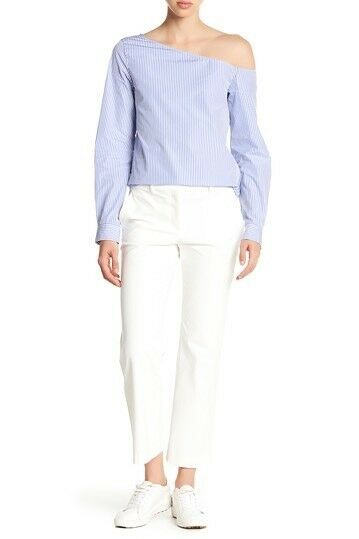 New Ivory Theory Hartsdale Solid Pants Größe 6 MSRP  275