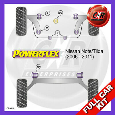 PFF60-901 POWERFLEX fits NISSAN Note //Tiida 06-11 Front Arm Front Bush 2 in Pack