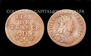 Liard-de-France-1656-D-Lyon-2-Type-Louis-XIV-Cuivre