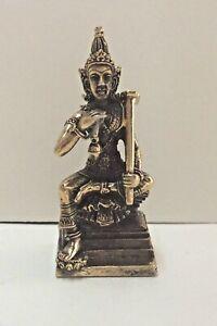 Statuetta-Figurina-Ottone-Amuleto-Budda-Divinita-Thailandia-b127