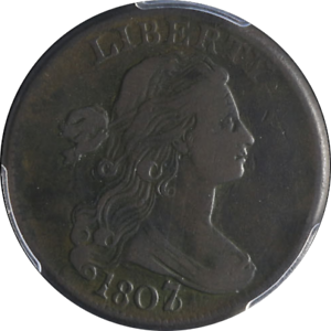 1807-6-Large-Cent-PCGS-VF30-Large-7-S-273-R-1-Great-Eye-Appeal-Nice-Strike