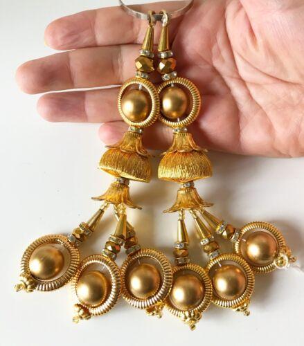 1 paire de dernier Designer Indian Bollywood Latkans Diamonte Deco Pampilles