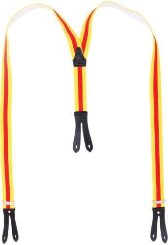 Hosenträger mit Knopfloch  badische Farben