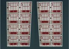 2 x 8 Bird vedovanza GALLINA NIDO/Scatola per piccioni/fantails/Loft/ATTREZZATURA IN LEGNO