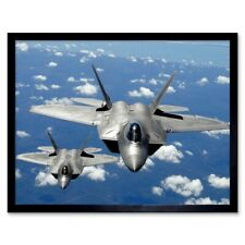 MILITARY AIR PLANE FIGHTER JET F22 RAPTOR USAF POSTER ART PRINT PICTURE BB1050A