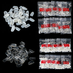 600pcs-Round-Short-Nails-Salon-Full-Cover-False-French-Manicure-Tips-Fake-Nails