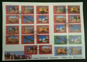[SJ] United Nations World Heritage Spain 2000 Tourism (stamp FDC) *different PMK