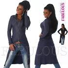 New Sexy Women's Ladies Jumper Jacket Long Cardigan Knitwear Size 6 8 10 XS S M