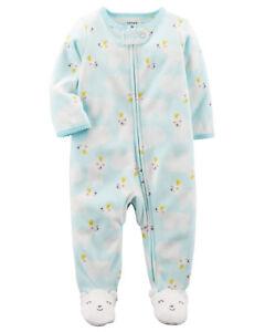 be07d5bfbf81 Carters Baby Girl Clothes 3 Months Polar Bear Fleece Sleep   Play ...