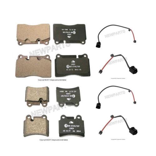 For VW Touareg 06-10 Front /& Rear Disc Brake Pad Set /& Sensors Ate Ceramic