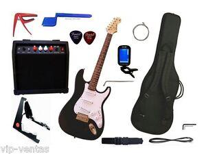 Guitarra electrica Stewart stratocaste set de 12 piezas con amplificador de 20W
