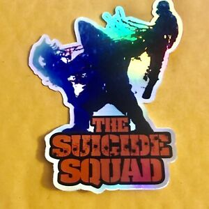 """KING SHARK The Suicide Squad HOLO-Decal/Sticker 4.5x2"""" NICE! SYLVESTER STALLONE"""