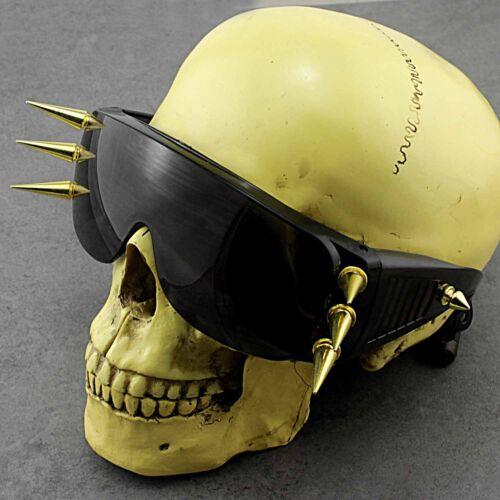 Gothic Fashion Metal Custom Unique Spike Gold SunGlasses Unisex