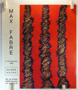 Affiche-Art-1990-MAX-FABRE-expose-Galerie-Agora-a-Marseille-19bPB