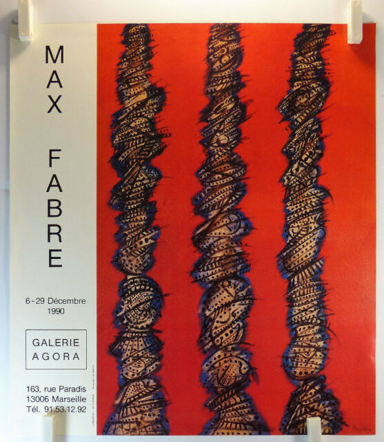 Affiche Art 1990 MAX FABRE expose Galerie Agora à Marseille /19bPB