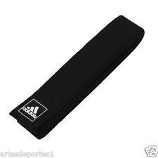 Adidas 212 Cm Single Wrap Solid Black Martial Arts Karate TKD Judo Uniform Belt