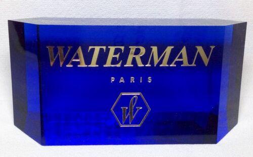 Waterman Acrylic Display Piece Beautiful Translucent Blue