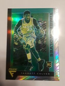 2019-20-Panini-Chronicles-RC-Jarrett-Culver-Flux-Rookie-Silver-Prizm-SP-597-NBA