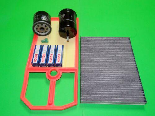 Ölfilter Luftfilter Kraftstofffilter Pollenfilter Zündkerzen VW Bora 1.4 1.6 16V