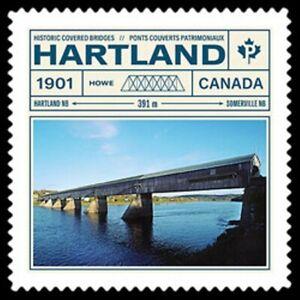 2019-Canada-HARTLAND-HISTORIC-COVERED-BRIDGE-Brand-New-2019-Stamp-Issue