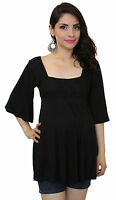 Batwing Black Lace Maternity Clothes Basic Top Long Sleeve Babyshower