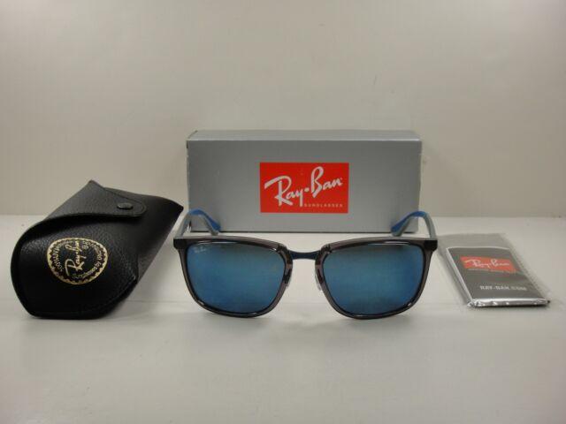 10983cf995 Ray Ban Men s Rb4303 Rb 4303 636355 Transparent Grey Square Sunglasses 57mm