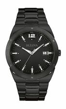 Bulova Men's 98B234 Classic Collection Quartz Black Stainless Steel Watch