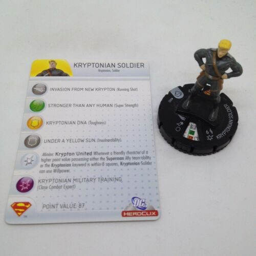 Heroclix Superman set Kryptonian Soldier #002 Common figure w//card!