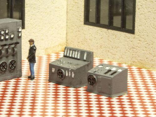 Modellbahn Union MU-TT-A00141 TT Schaltpulte für Fabriken 2x