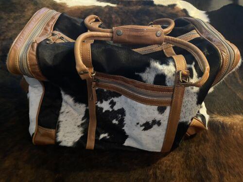 myra bag cowhide duffel