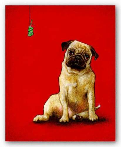 DOG ART PRINT A Pug and a Kiss Will Bullas