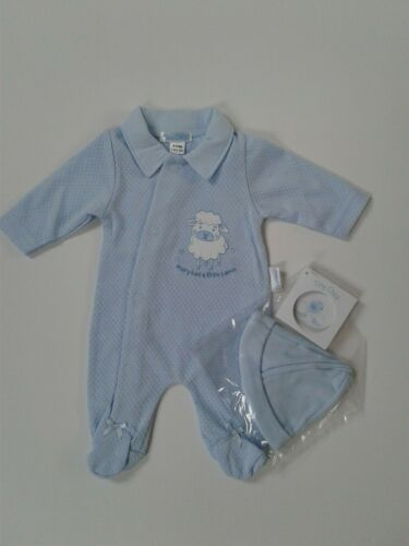 Premature Tiny Baby Garçons Vêtements petit agneau Baby Grow Hat Set 3-5 Lb 5-8 LB