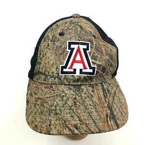 VINTAGE Arizona Wildcats Brush Camo Hat Cap Blue Mesh Back UofA Snapback 90's