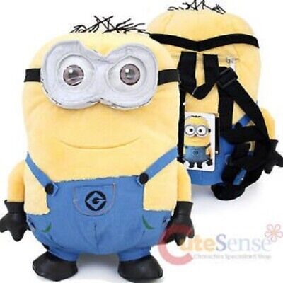 """Jerry Despicable Me 2 Minion 14/""""  Inch Plush Backpack with Sound Licensed"""