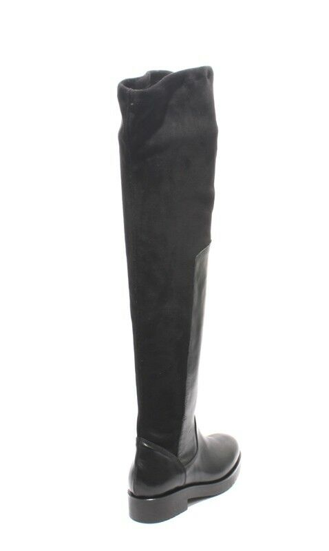 Mally Mally Mally 6311 Black Leather Stretch Over-the-Knee Zip-Up Riding Boots 39   US 9 1959a2