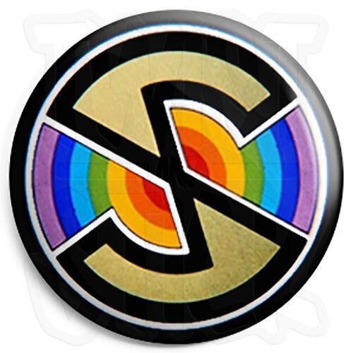 "Kids Retro TV 80/'s Funny Bananaman Logo 25mm 1/"" Button Badge"