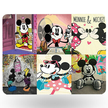 High Gloss Table Mat 20 x 26cm Disney Mickey Mouse 9 x 9cm /& Cup Coaster