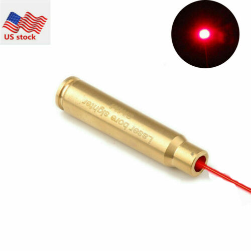 Detalles acerca de  8mm Cartucho Bala Red Dot Laser Cal Bore Sighter Latón nos del eje de puntería para rifle-  mostrar título original