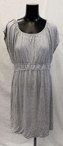 Ripe-Women-039-s-Short-Sleeve-Maternity-Nursing-Knee-Length-Dress-SC4-Grey-Large