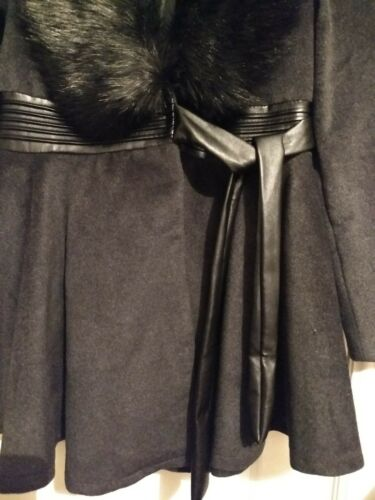 12 Christmas Womens Removable Faux Season All Gift Nwt Size Trim Coat Fur qXvUvdw