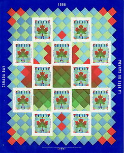 Canada-1607a-45-Canada-Day-Pane-of-12-MNH