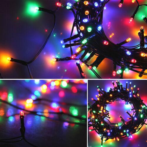 50 100 200 LED Solar Lichterkette Kette Weihnachtsbaumkette Außen Garten Party