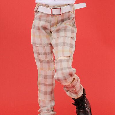 """A1 Beige Slash Cool Check Pants Dollmore 17/"""" 1//4BJD  MSD"""
