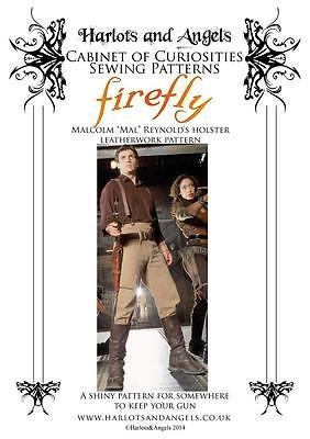 Leatherwork Holster sewing pattern Mal's Reynolds Gun Firefly Serenity Steampunk