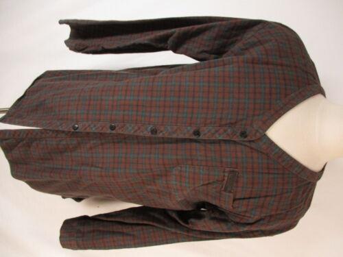 Harley Davidson Brown Plaid Long Sleeve Cotton Col