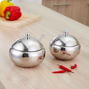 1-Pc-Stainless-Steel-Household-Sugar-Bowl-Spice-Jar-Condiment-Container-for-Home
