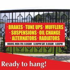 Brakes Tune Ups Oil Change Banner Vinyl Mesh Banner Sign Auto Repair Service